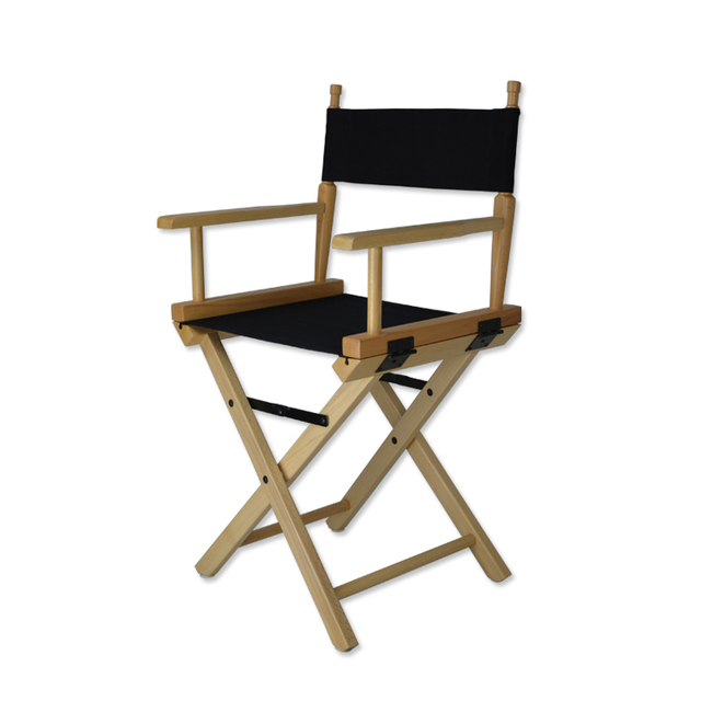 High Grade Director Chair Foldable Salon Makeup Chair Wood Director Chair  Portable Sturdy Chair Small