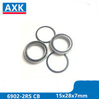 Axk 6902-2rs 6902 61902 Гибридный керамический радиальный шарикоподшипник 15x28x7 мм 6902-2rs Cb Abec-3