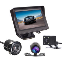 Car Monitor Car in-Dash Video Player 4.3 inch TFT LCD For Rear View Camera Auto Parking Backup Reverse HD with 2 video input