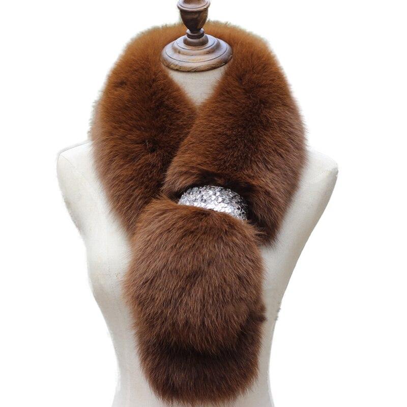 Fox Fur Scarf 2017 Genuine Women  Winter Thick Warm Fur Scarves Neck Fur Collar Shawl Brand New Fur Fashion Accessories
