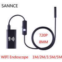 SANNCE 1m 2m 5m Wifi Endoscope Camera Android HD 720P Iphone Borescope Waterproof Camera Endoscopic Android