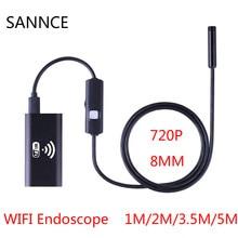 HD 720 P 1 м 2 м 3.5 м 5 м Wi-Fi эндоскоп Камера Android IPhone бороскоп Водонепроницаемый Камера эндоскопическая android IOS boroscope Камера