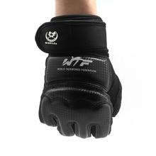 Half Fingers Boxing Gloves Leather Luva De Boxe Muay Thai Karate/Boxeo/MMA/Taekwondo Sandbag Punch Kick boxing Dumbbell