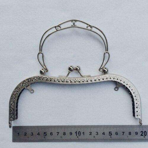 19,5 см, большой размер, винтажный узор, резной женский кошелек «сделай сам», рамка, женская сумка, металлическая застежка, металлические аксессуары, 3 шт.