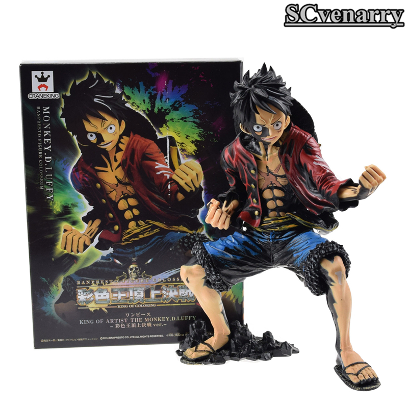 One Piece Anime King Of Artist The Monkey D Luffy Color Version Pvc Action Figure Model Toy Christmas Gifts 7 18cm Toys & Hobbies