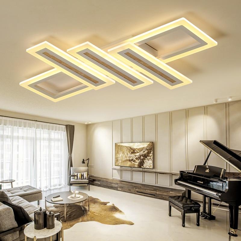 Luzes de Teto sala de estar quarto Lâmpada lustre Moderno de plafond moderne Escurecimento Moderno Acrílico lâmpada Do Teto LEVOU para o quarto