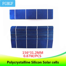 50pcs  156*31.2MM 0.87W Polycrystalline Silicon Solar Cells DIY Solar Panel For Phone tablet MP3 MP4 Powerbank Charging silicon nanowires for hybrid solar cells