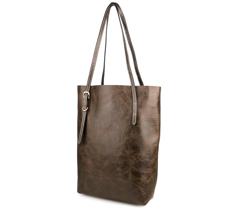 JMD 100% Guarantee Genuine Vintage Leather Women's Tote Shoulder Bag for Shopping # 7271C jmd 100% guarantee genuine vintage leather women s tote shoulder bag for shopping 7271c
