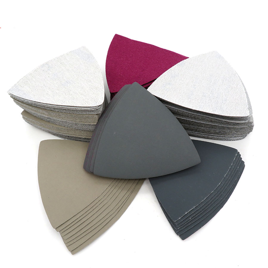 5-100Pcs Wet Dry Triangle Flocking Sanding Sandpaper 90x90x90mm 800 1000 1500 2000 5000 Grit Abrasive Polishing Tool For 996A