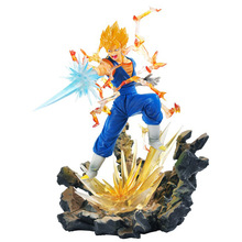 Anime Dragon Ball Z Goku Fighers Super Saiyan Prins Vegeta lunchi schaal Action Figure PVC Collectible Model Toys