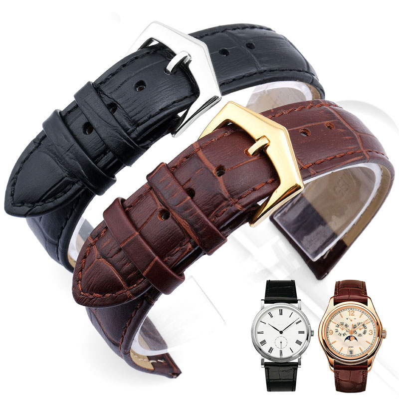 Watchband leather Men's general cowhide bracelet watch wrist watch accessories distribution tool 20mm 21mm 22mm watchband