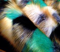2style Fox fur costume collar floor carpet plush wool fabric for coat textiles handmade DIY Jacquard thick sequin fabric A338