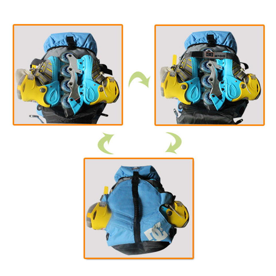 Image 3 - DC 810D Polyester Fabric Inline Speed / Slalom Roller Skates Backpack Travel Camping Camouflage Multi function Skating Bags BB2-in Scooter Parts & Accessories from Sports & Entertainment