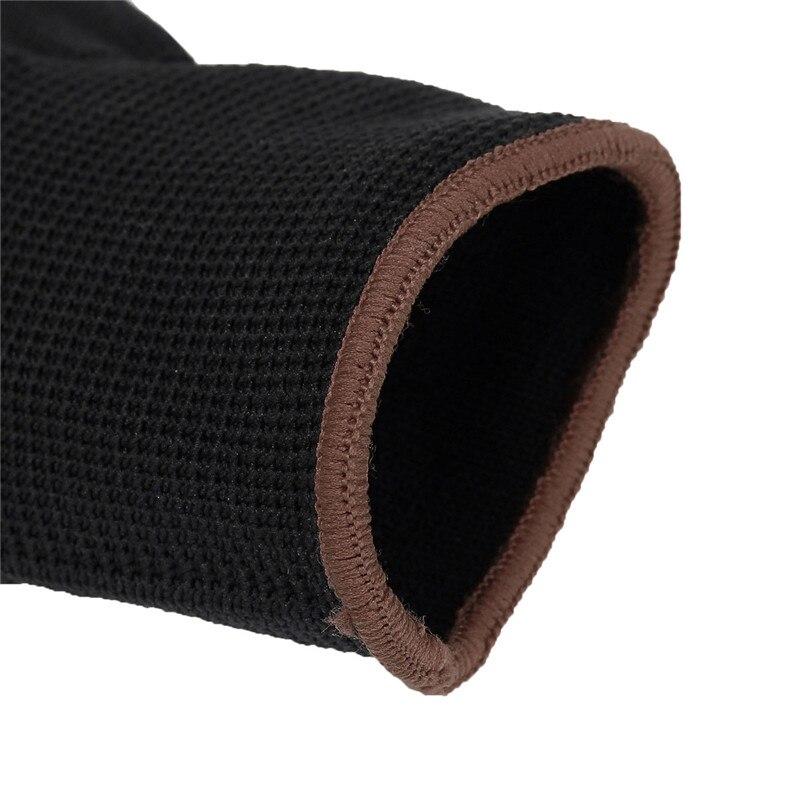 Gants de sécurité en Nylon PU noir | En, 12 paires, constructeurs poignée pour les gants de revêtement de palmiers