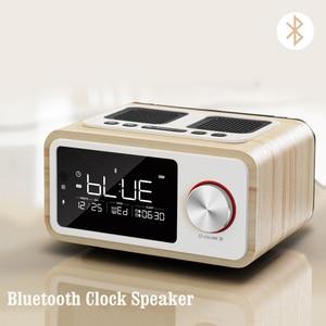 Image 2 - LEORY Afstandsbediening Bluetooth Speaker Fm Radio Wekker MP3 Desktop Thuis Houten Draadloze Muziekspeler 2500mah Krachtige Luidspreker