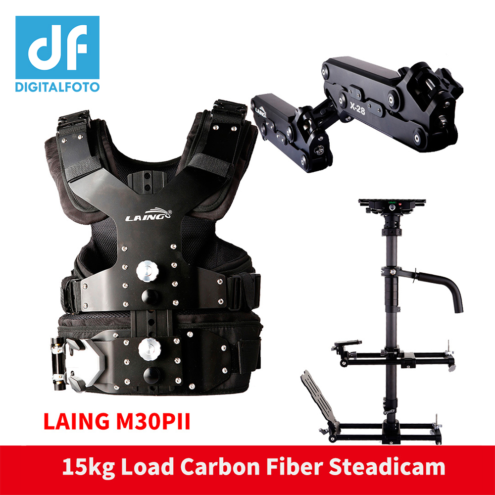 DF DIGITALFOTOLAING M30PII 15 kg ours en fiber de carbone Vidéo caméscope Steadicam Steadycam photographie Soutien Vest + Bras + Stabilisateur