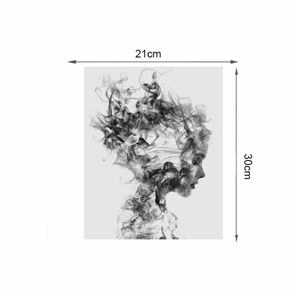 ffc8377d22e4a 21 * 30 cm Fashion Black White Smoking Art Prints Poster Personalized Wall  Picture Canvas Painting Custom Bar Home Decor