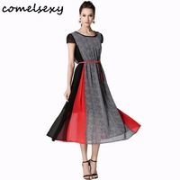 Women Summer Fitted Dress 2017 COMELSEXY New Summer Collection Short Sleeves Dress And Bottoming Shirt European