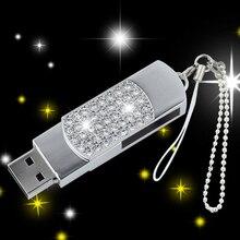 Fashion Crystal USB Flash Drive Pendrive 128GB 16GB 32GB Jewelry Memory Stick Pen Drive 512GB Gifts Creativo USB 3.0 Key 64GB