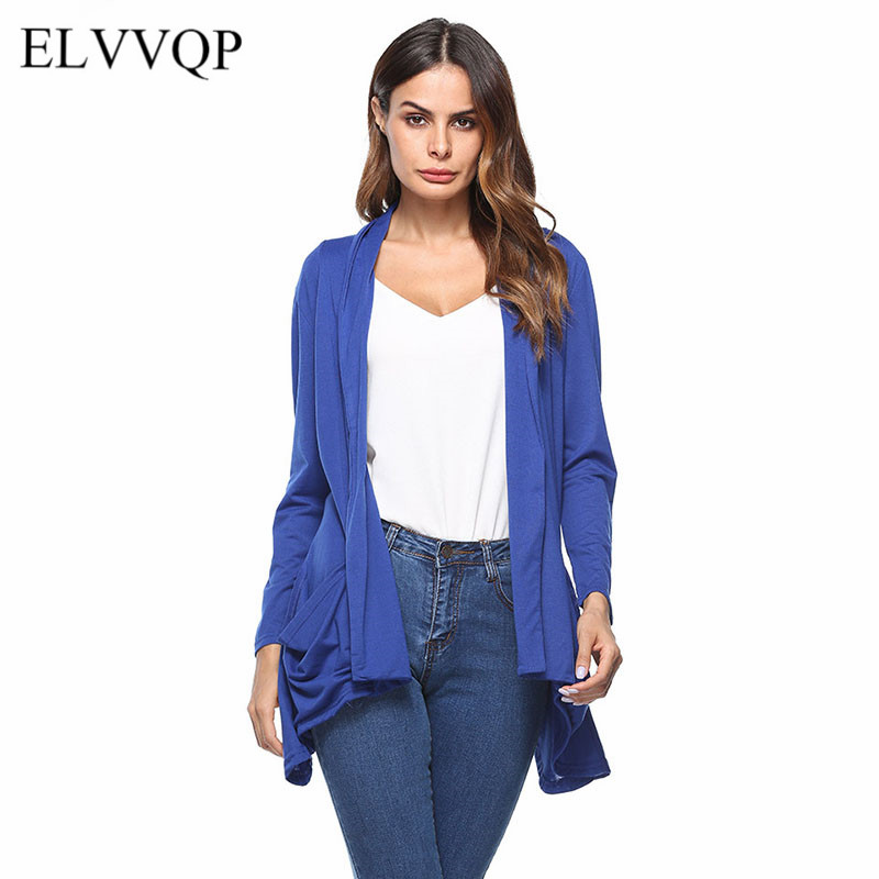 Casual Long Sleeve Knitted Sweater Cardigan Women Kimono Cotton Open Stitch Summer Cardigan Feminino 2018 Ponchos and Capes NW41