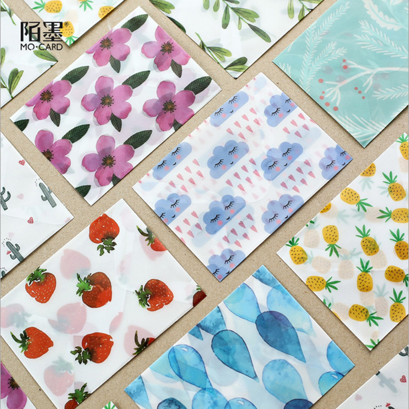 3pcs/lot  Mini Letter Girl Mind Letterhead Envelope Writing Paper Stationery Kawaii Birthday Christmas Card Envelopes Gift