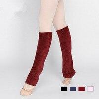 4 цвета Взрослых балет танец современный танец практика производительность хлопка лодыжки шерсти кашемира тепловой Леггинсы носки