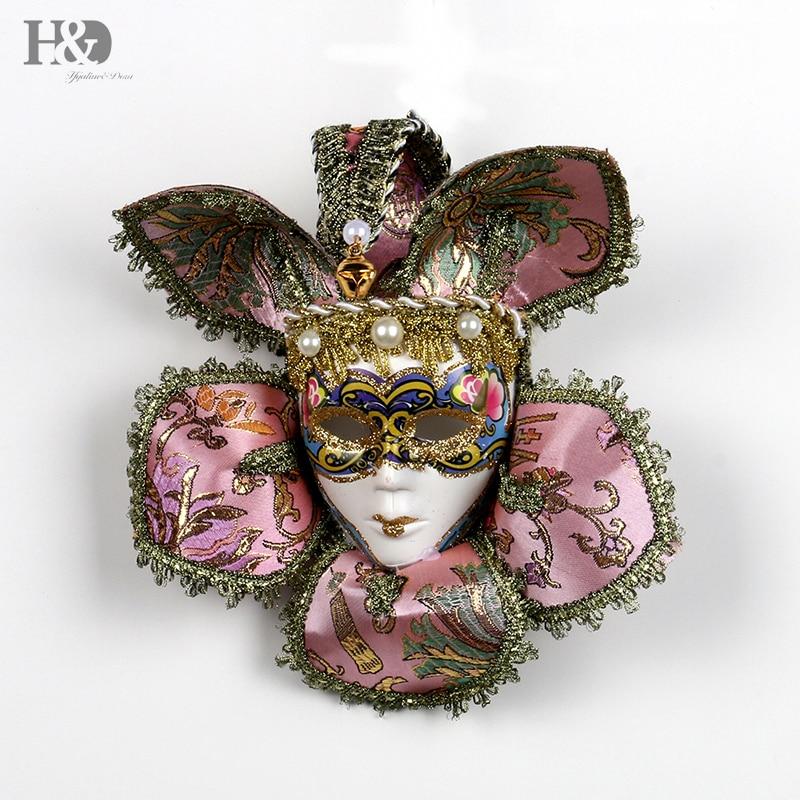 Masquerade Masks Decorations Ideas: H&D Mini Full Face Venetian Jester Mask For Women Hand