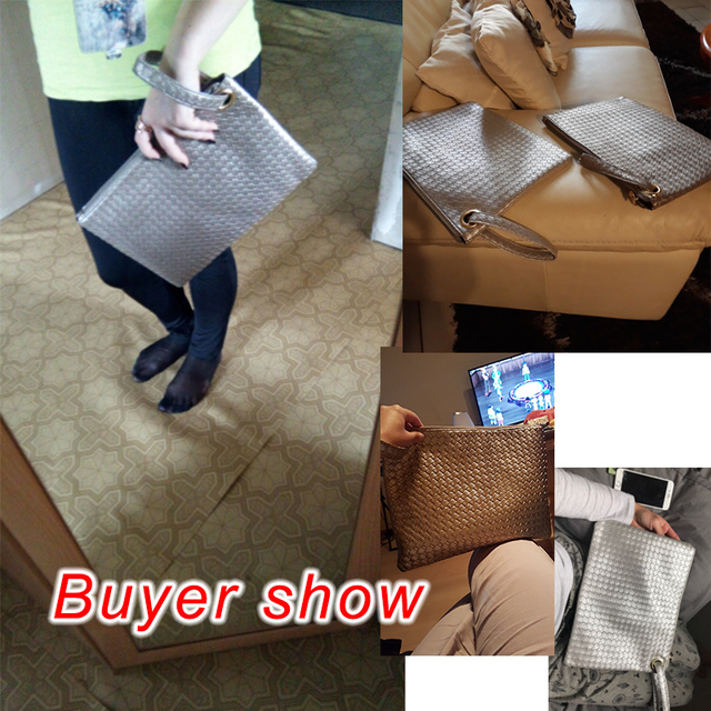 Pu Leather Knitting Women Bag  1