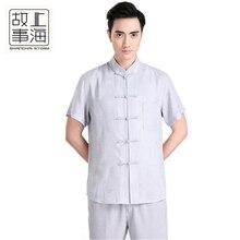 Free shipping Short Sleeve Tang suit Chinese Traditional clothing Kung Fu Shirt mandarin collar Chinese Shirt