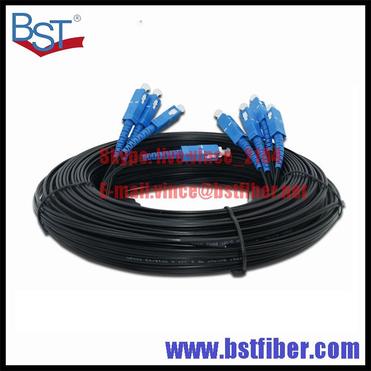 300M Outdoor FTTH Fiber Optic Drop Cable Patch Cord SC to SC SX SM SC SC 300 Meters 4 Cores Drop Cable Patch Cord