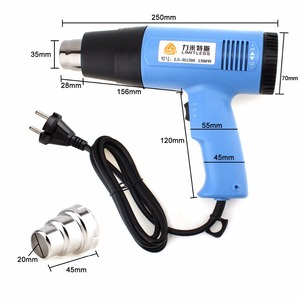 Image 5 - High Quality AC220V EU Plug / 110V US 1500W Adjustable Temperature Electric Heat Gun Multifunctional Handheld Hotair Gun
