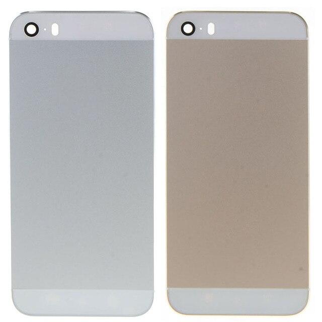 Новый Корпус Для iPhone 5s Металлического Сплава Задняя Крышка Батарейного Отсека Задняя крышка С Логотипом W0D05 T16 0.4