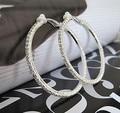 no pierced earrings hoop Brincos big clip earrings rhinestone stones clip earrings no pierced ear 5.5CM