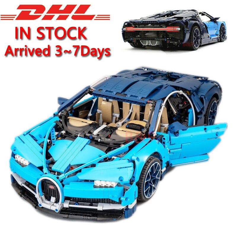 DHL Legoing 4031 шт. Technic 42083 Bugatti Хирон гоночный автомобиль наборы Модель Строительство игрушечный конструктор для детей подарок на день рождения
