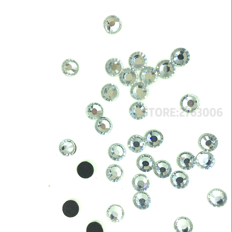 Crystal Clear New Facted Cut Facets AAAA Quality Iron On Hotfix Rhinestones  SS6 SS8 SS10 SS12 764416e55040