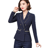 Woman Suits Lady Suit Office Women Slim Evening Pants Suits Long Sleeve Blazer With Pants Plus Size Work Wear Clothing Female