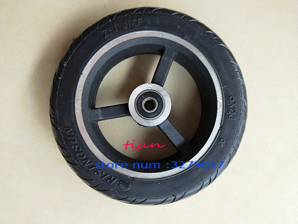 Free Shipping 6 Inch 6X2 Wheels Set Solid Tire With Hub Fit For Electric Scooter Wheel Chair Truck Use 6