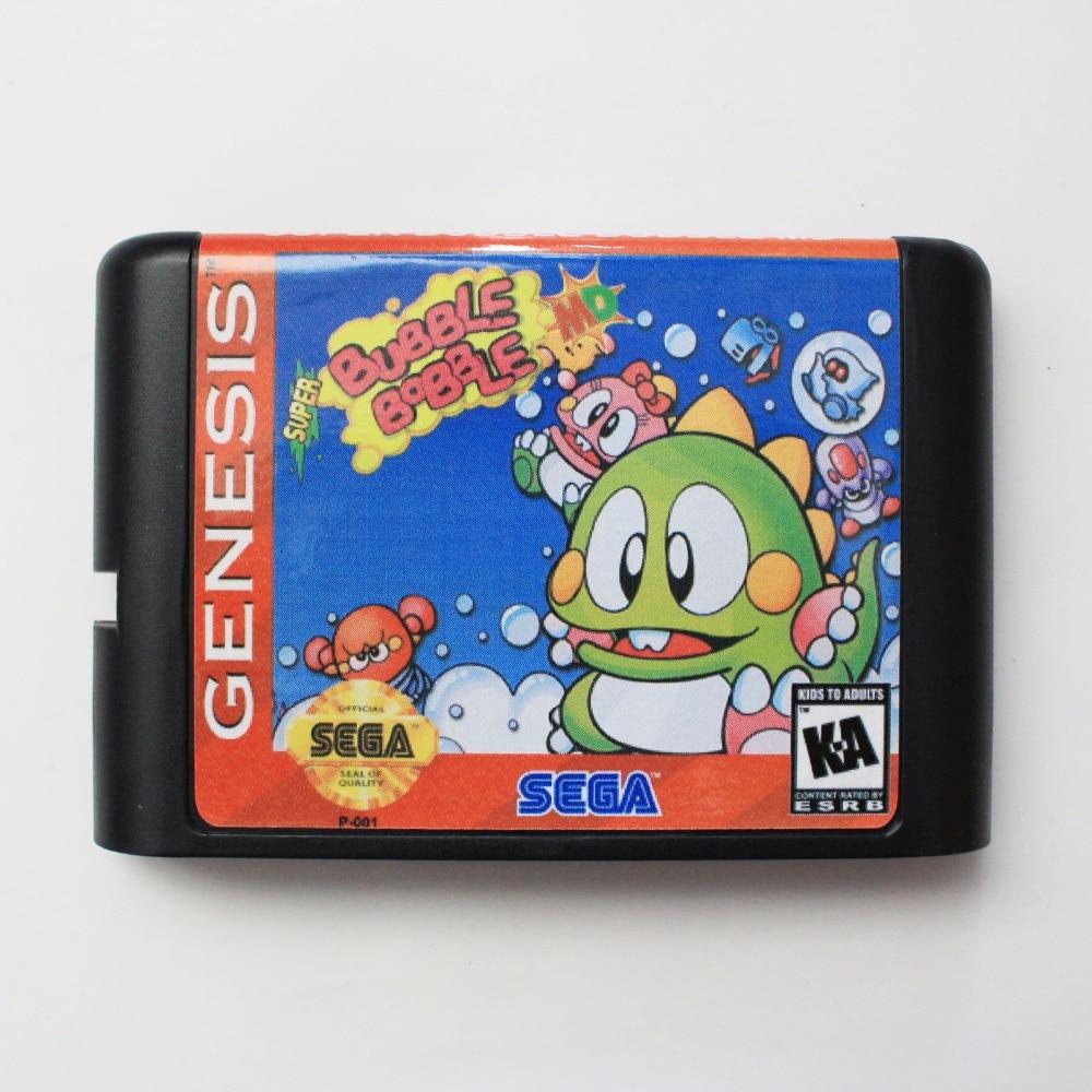Super burbuja Bobble 16 bits SEGA MD tarjeta de juego para Sega Mega Drive para Genesis