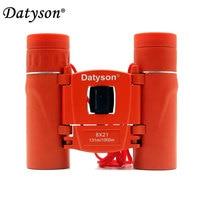 Datyson 8x21 Compact Pocket Binoculars Folding Full Coated HD Mini Telescope Roof Prism BAK4 FMC Optics Hunting Sports