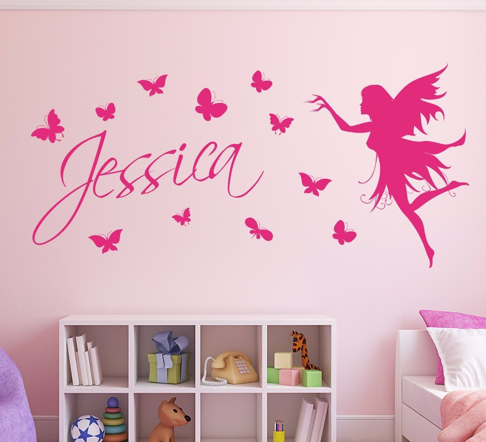 We will be happy to help you with any question  sc 1 st  AliExpress.com & Butterfly Fairy Girls Wall Art Wall Sticker Decorative Butterflies ...
