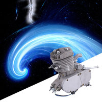 Original Professional 2 Stroke 80cc Cycle Motor Engine Kit Gas Great For Motorized Bicycles Cycle Bikes Silver