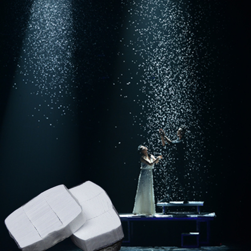 12PCS White Snowflakes Finger SnowStorm Snow Paper Magic Tricks Toy Magician Illusion Stage Props For Magician