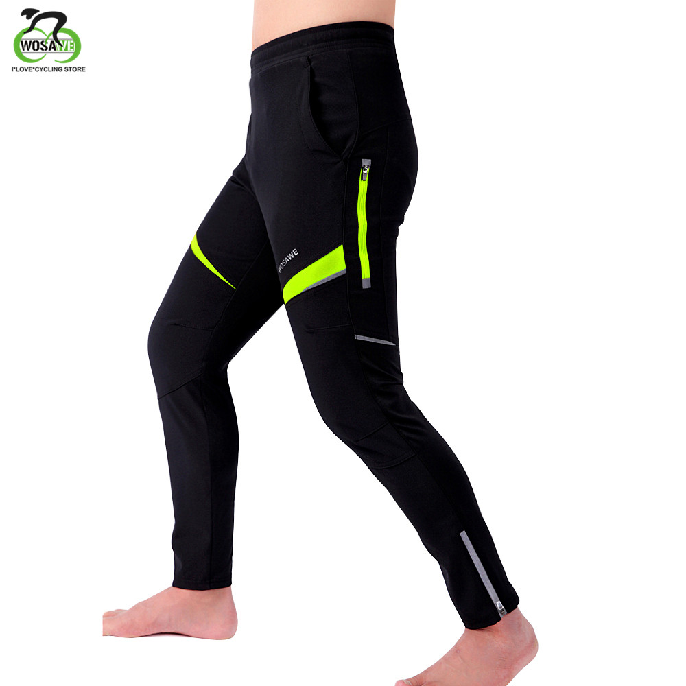 WOSAWE  Spring Autumn Cycling Pants Breathable Quick Dry  MTB Bike Pant Waterproof Trousers Elastic Waist Ropa Ciclismo