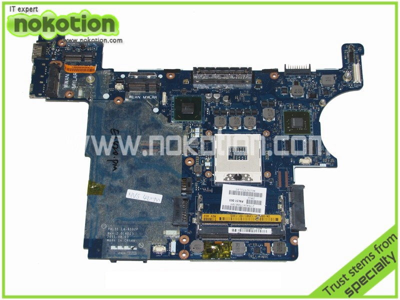 NOKOTION 0H2YDF CN-0H2YDF motherboard for latitude E6420 laptop main board PAL51 LA-6592P GeForce NVS4200M graphics nokotion laptop motherboard for dell vostro 3500 cn 0w79x4 0w79x4 w79x4 main board hm57 ddr3 geforce gt310m discrete graphics
