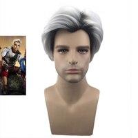 The KTLPARTY 28cm Descendants 2 Carlos Wig For Men Cosplay Wig Halloween Party Wig
