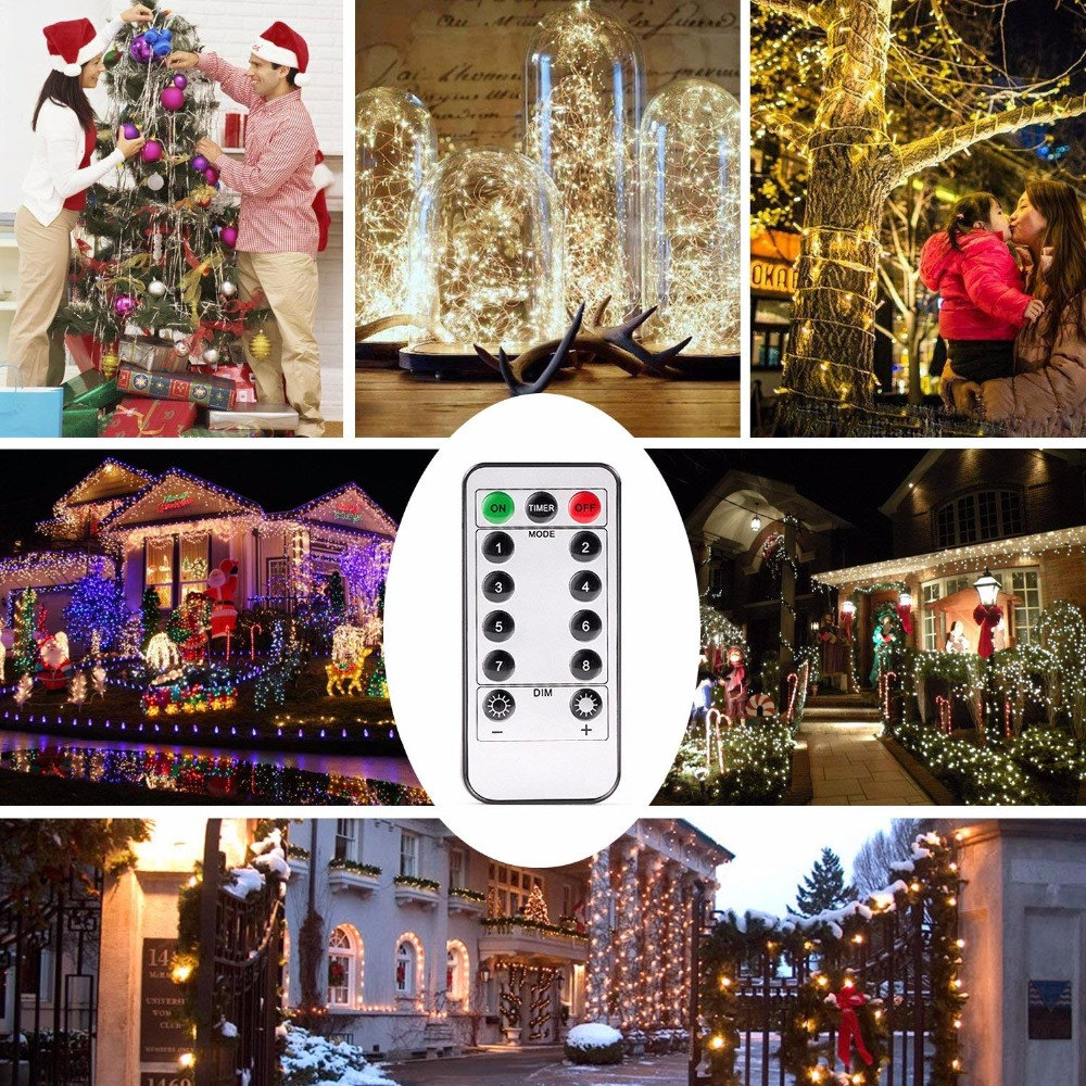 kohree 40ft 120 led string lights battery powered light with remote control timer for outdoor christmas decoration in lighting strings from lights
