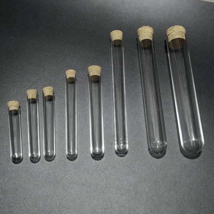 442.64руб. 12% СКИДКА|50 шт./лот диаметр 12 мм до 25 мм жесткие пластиковые пробирки с пробковой пробкой для экспериментов, длина от 60 мм до 150 мм|Фляжка| |  - AliExpress