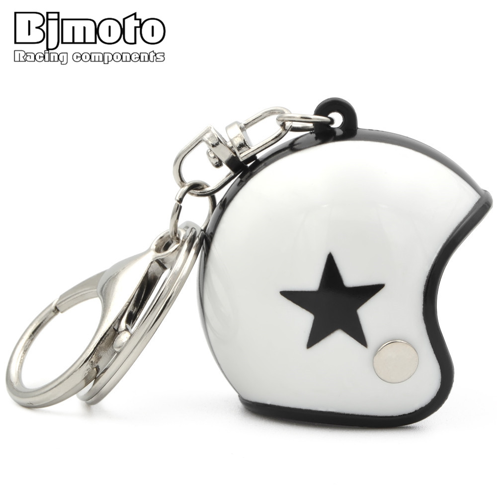 BJMOTO Mini Sport Motorcycle Helmet Pendant Keychain Unisex Keyring Key Chain Ring Finder Accessories Knight Gifts all characters tracer reaper widowmaker action figure ow game keychain pendant key accessories ltx1