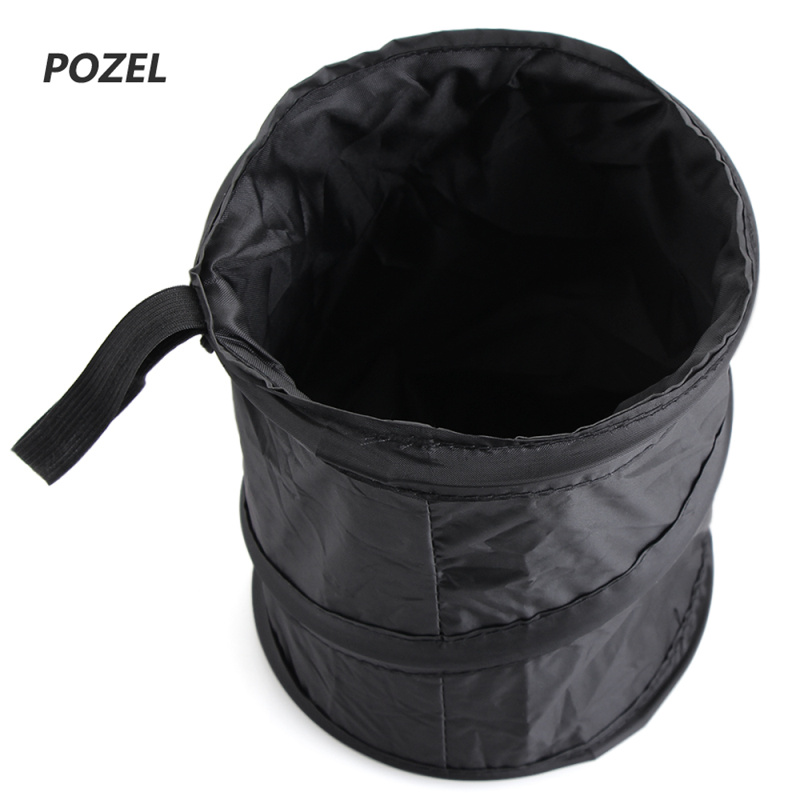 bell wastebasket trash can litter container car auto rv pop up garbage bin bag in stowing. Black Bedroom Furniture Sets. Home Design Ideas