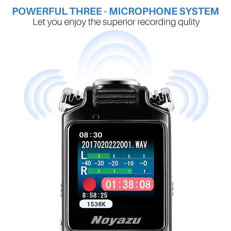 NOYAZU V59 16G double Microphone enregistreur vocal numérique stylo professionnel Dictaphone lecteur MP3 enregistreur sonore cadeaux d'affaires - 4